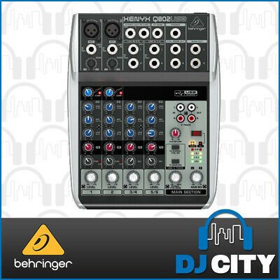 Behringer PA Mixer Q802USB 8 Input w/ USB Audio Interface