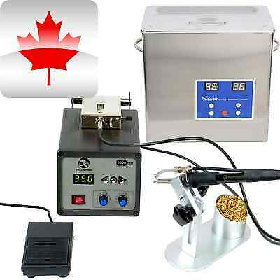 2.5L Commercial Ultrasonic Cleaner + Automatic Feed Soldering Rework Station  G