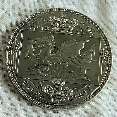 Wales William Iiii 1830 Nickel Silver Proof Pattern 5 Shillng Crown