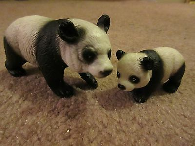 Schleich Mom and Baby Cub Panda lot of 2