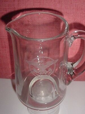 SS UNITED STATES LINES  Insignia Martini Pitcher  /  Top Condition