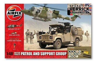 A50123 Airfix 1:48 Operation Herrick British Army Patrol Support Group Set New