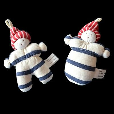 100% Certified Organic Cotton Soft Toy / Teether / Comforter Small Doll Safe