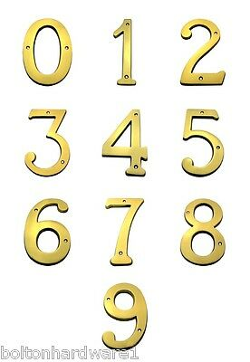 6 Inch Bright Brass House Numbers Home Address Plaque Number Sign MP6-0-9-605