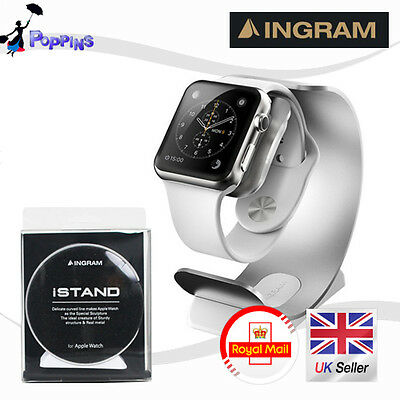 New Genuine INGRAM iSTAND Aluminum Apple Watch Stand Charging Dock 38mm / 42mm