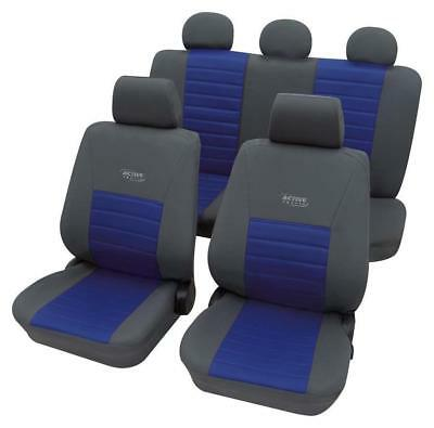 Sport Look Car Seat Cover set - For Vauxhall Vectra C 2002 On  - Grey & Blue