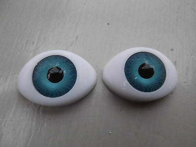 BLUE OVAL ACRYLIC DOLL EYES IN A VARIETY OF SIZES Style SOE
