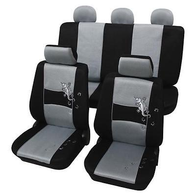 Silver & Black Stylish Car Seat Cover set - For Vauxhall Vectra C 2002 Onwards