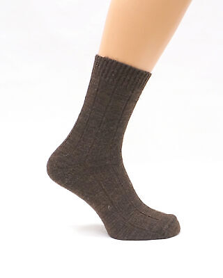 Mens Very Warm Thermal Thick Camel Wool Socks | Winter Hiking Hunting