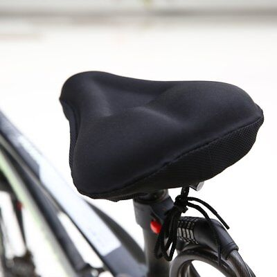 New Bike Bicycle Cycle Extra Comfort Gel Pad Cushion Cover for Saddle Seat S#