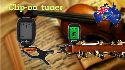 Clip-On Guitar Bass Violin Ukulele Violin Banjo Chromatic Tuner T30W LCD S#