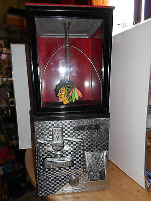 Distributeur de bonbons Blackhawks de Chicago Blackhawks vending machine 60's