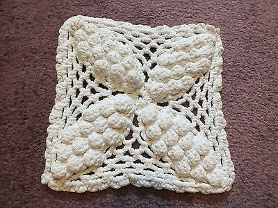 Collectible Handmade Crocheted Pot HolderOff White 6 Inch UNIQUE