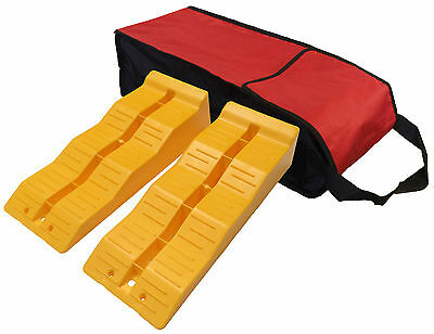 LEVELLING RAMPS + CARRY BAG MOTORHOME LEVELLERS LEVEL UP 3 STEP caravan TS570