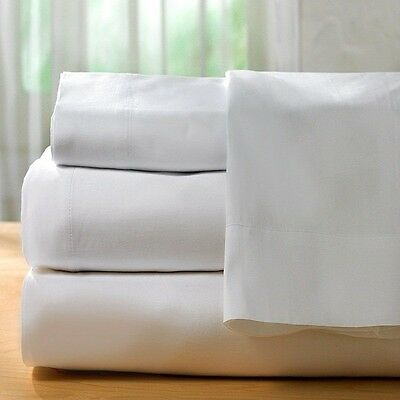 Cotton Bay Fitted Queen Sheet  Soft Cotton Blend Super White Lowest Price Online