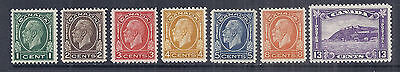 1932 Canada - 195-201, Complete Set of 7, KGV King George 5 Medallion - MH VF