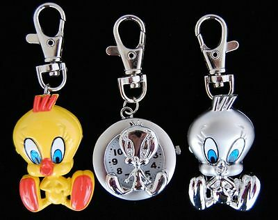 New 10pcs Bird style Key Ring Pocket Watch children watch Gift USF54