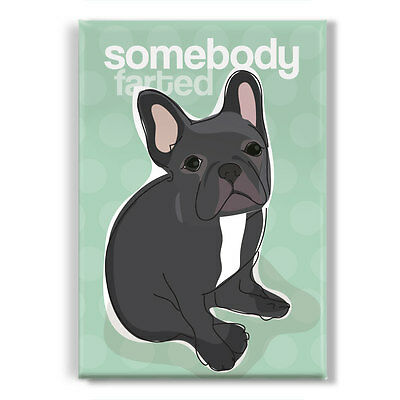 Black French Bulldog Gifts Refrigerator Magnets Funny Sayings - Somebody Farted