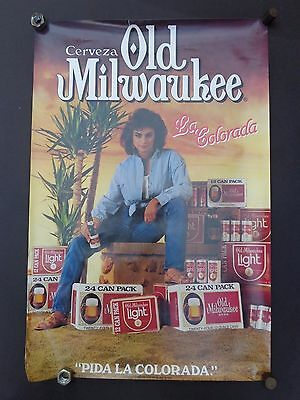 """Old Milwaukee Beer Poster 1986 30"""" x 20"""" Sexy Girl"""