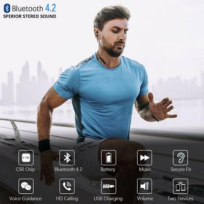 Bluetooth 4.1 Wireless Stereo Earphone Earbuds Sport Headset Headphone with Mic