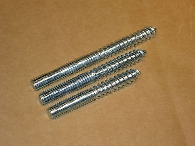 Hanger Bolts - 5/16 Whit/UNC - 12 Pieces - Zinc Plated - 3 Lengths Available