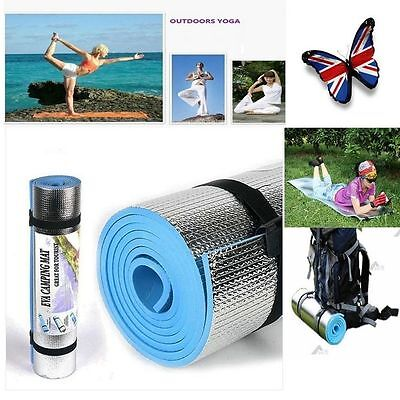 Blue 180 * 60 * 0.6cm Thick Mat Pad for Leisure Picnic Exercise Fitness Yoga UR