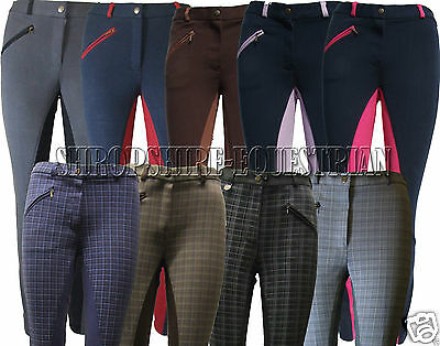 !! Sale !! Ladies Check Jodhpurs Horse Riding All Sizes Womens Checked Jodphurs