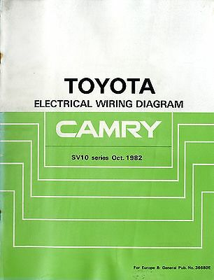 WORKSHOP MANUAL TOYOTA Camry electrical wiring diagram Stand 10/1986 ...