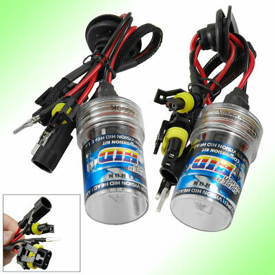 2 x Auto 35W 6000K White Light HID Xenon Head Lamp H11 Bulbs