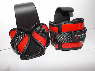 f2f Pro Weight Lifting Steel Hook Gym Bar Straps, Bodybuilding wrist support