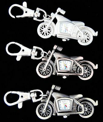 new 10pcs Motorbike Style Key Ring boys girls kid Watches (3 colours) USF57
