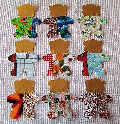 Set of 12 Fish AA53 Iron On Sew On Appliques from Modern Cutter Quilt Blocks