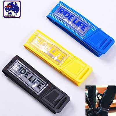 2pcs Road Bike Bicycle Reflective Leg Strap Beam Bottom Belt Band Safe OBSTA 20