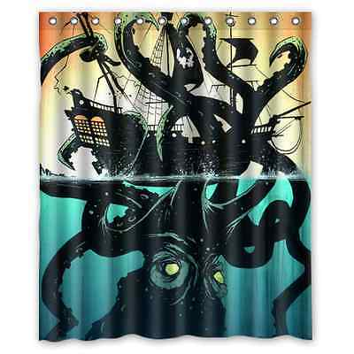 Brand New Octopus Waterproof Bathroom Shower Curtain 60 x 72 Inch