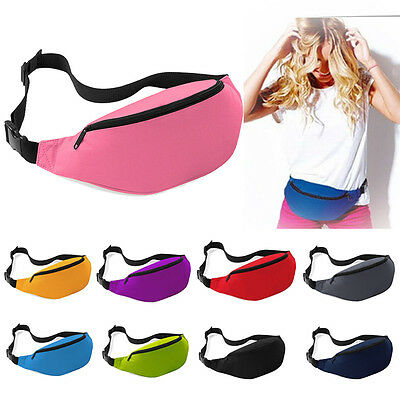 New Running Jogging Bum Bag Fitness Exercise Waist Bag Travel Fanny Pack Pouch