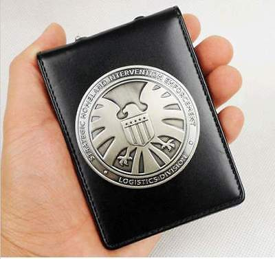 Agents of shield S.H.I.E.L.D. Metal SHIELD Badge Pin & ID Holder Wallet - US079