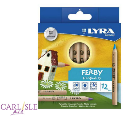 Lyra - Ferby Unlacquered Triangular Colored Pencils,12pk
