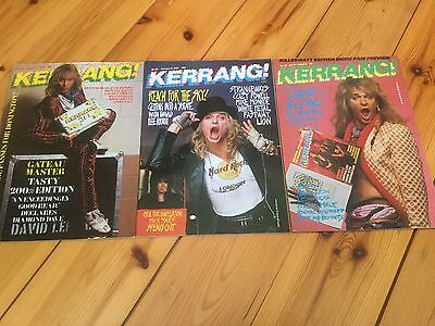David Lee Roth Kerrang ! Magazine Lot of 3 Van Halen