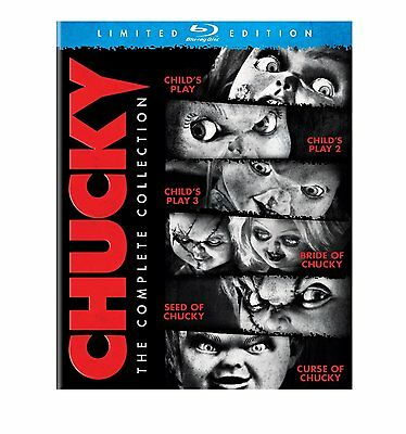 CHUCKY -THE COMPLETE MOVIE COLLECTION (6 films) -  Blu Ray - Sealed Region free