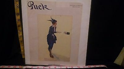 Rare Antique Original VTG 1915 Puck Archie Gunn Help Wanted Cover Only Art Print