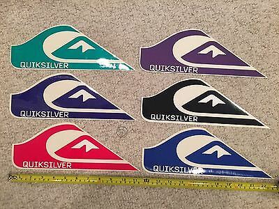 Quiksilver Authentic Team Sticker Collection Surf Skate Snow Lot of 6 - Rainbow