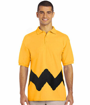 Peanuts Charlie Brown Costume Polo Shirt New