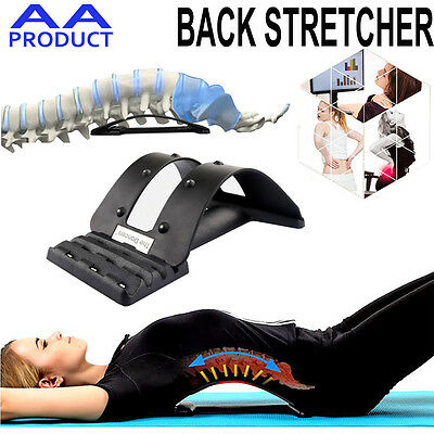 Back Stretcher Support Extender Posture Massager Waist Relax Pain Relief Magnet