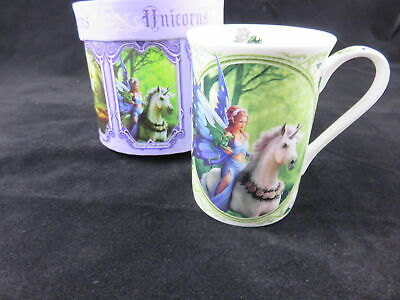 "NEW DESIGN Anne Stokes ""Realm Of Enchantment"" Unicorn Gothic Mug, Gift Boxed."
