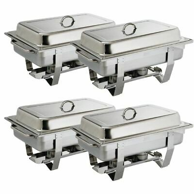 Milan Chafing Set Food Warmer in Stainless Steel - 635 x 317.5 x 102 mm - 9L 4pc