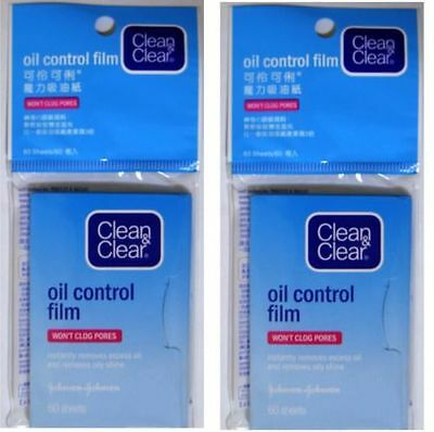 2 x Clean and Clear Oil Control Film Blotting Paper Face