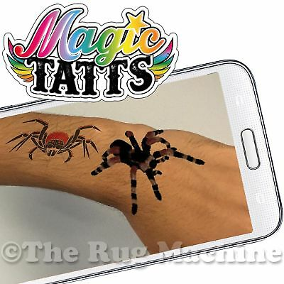 ACTION TATTOOS - Magic Tatts - Brought to 3D Life With Phone App Kids Gift **NEW