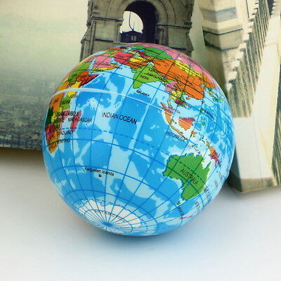 World Map Globe Toy Foam Earth Stress Relief Ball Atlas Geography Educational UR