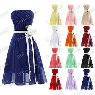 Stock New Chiffon Short Bridesmaid Dress Formal Prom Party Cocktail Evening Gown