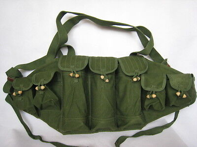 Military Original Vietnam War Chinese Type 56 AK Chest Rig Ammo Pouch- CN004